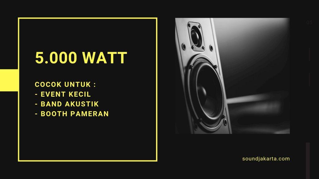sewa sound 5000 watt